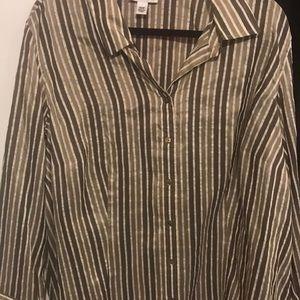 Button down stripe blouse